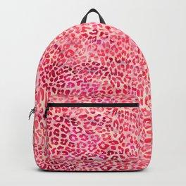 Pink Leopard Print Backpack