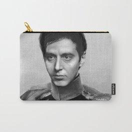 Al Pacino Scar Face General Portrait Painting | Fan Art Carry-All Pouch