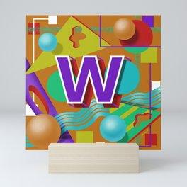 Letter W Mini Art Print