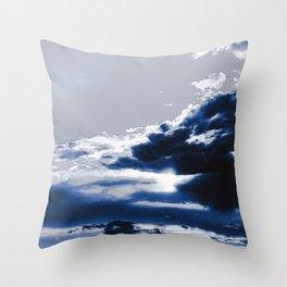 arctic blue landscape Throw Pillow