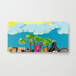 JL The City View Metal Print