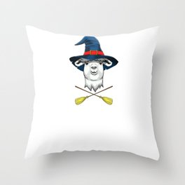 Witch Llama, It's Show Time Funny Halloween Horror Scary Throw Pillow