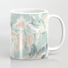 Marble Mist Green Peach Coffee Mug