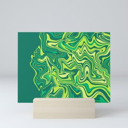Liquid Green Agate Slice Mini Art Print