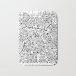 Sao Paulo Map White Bath Mat
