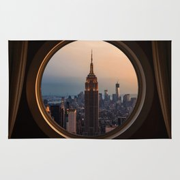 New York Window View (Empire State Building) Rug