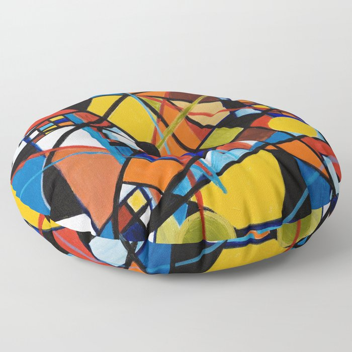 Lines and Circles Floor Pillow