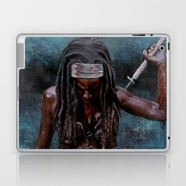 Michonne And Her Sword - The Walking Dead Laptop & iPad Skin