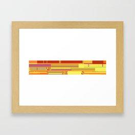 Scandinavian Moon (Fruit Colours) Framed Art Print