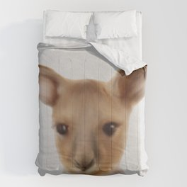 Baby Kangaroo , Cute Kangaroo Art, Nursery Wall Art, Australian Animals  Comforters