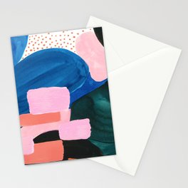 Mesozoic blocks Stationery Cards