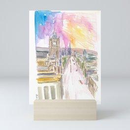 Edinburgh Princess Street at Sunset Mini Art Print