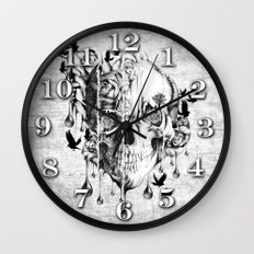 Beneath the Surface Wall Clock