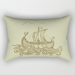 Viking ship Rectangular Pillow