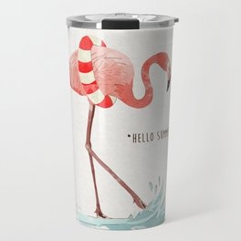 Flamingo - Hello Summer Travel Mug