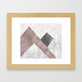 Rose grunge - mountains Framed Art Print