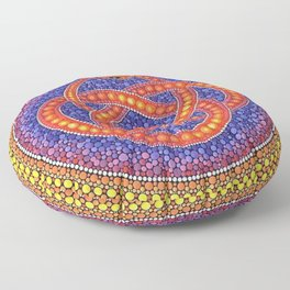 Snake knot Floor Pillow