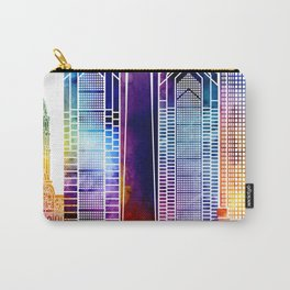 Philadelphia landmarks watercolor poster Carry-All Pouch