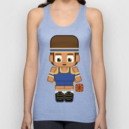 Basketball Blue and Yellow Unisex Tank Top