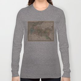 Vintage Map of The Roman Empire (1838) Long Sleeve T-shirt