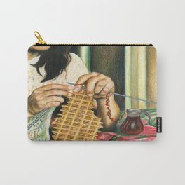 Knitting Waffles Carry-All Pouch