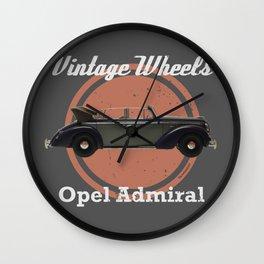 Vintage Wheels: Opel Admiral Wall Clock