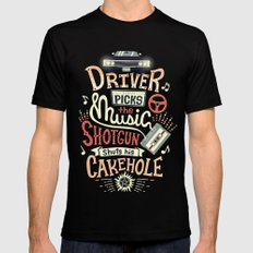 Driver picks the music Black LARGE Mens Fitted Tee
