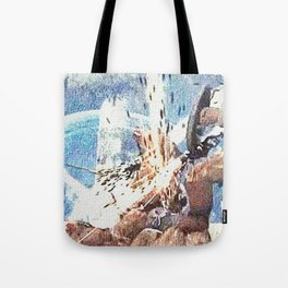 Battle with werewolf Tote Bag