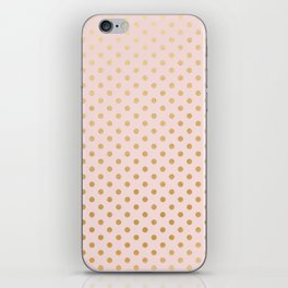 Blush pink and faux gold foil dots iPhone Skin