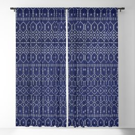 N111 - Jean Fabric, Farmhouse & Rustic Traditional Moroccan Style Artwork. Blackout Curtain