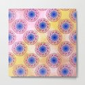 Teardrop Concentric Circle Pattern (Pink,Yellow) by roxygart