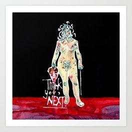 Medusa  (Thank you, next.) Art Print