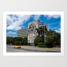 Hotel in Havana Cuba Art Print