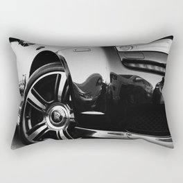 Rolls Rims // Black and White Luxury Super Car Photography Real Life Street Shots Rectangular Pillow
