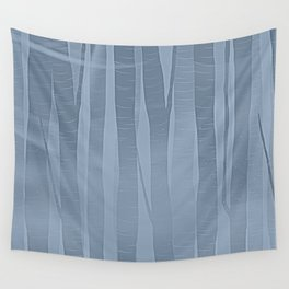Woodland -  Minimal Blue Birch Forest Wall Tapestry