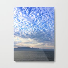 Clouds Dispensing Metal Print
