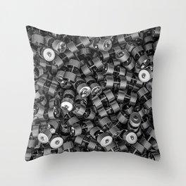 Chrome dumbbells Throw Pillow