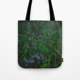 Orange and Purple Flowers Tote Bag
