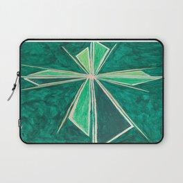 Green Cross Laptop Sleeve