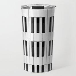 Piano / Keyboard Keys Travel Mug