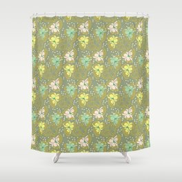 Juliette, gray Shower Curtain