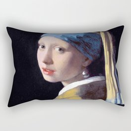 Girl with a Pearl Earring by Johannes Vermeer (c. 1665) Rectangular Pillow