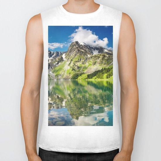 Mountain reflection #lake Biker Tank