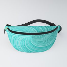 Colorful hypnotic spiral. Fanny Pack