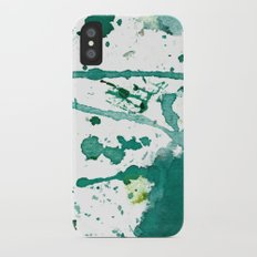 emerald green splash iPhone X Slim Case