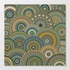 Mandala Mania-Mineral colors Canvas Print