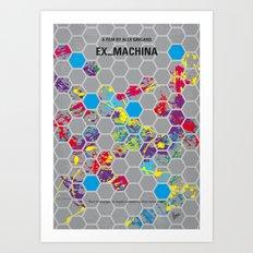 No537 My Ex Machina minimal movie poster Art Print