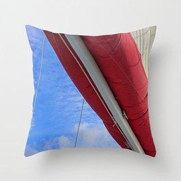 A Cayman Sail III Throw Pillow