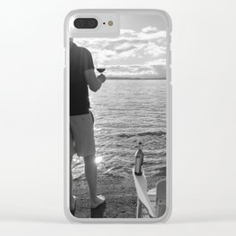 Life Seaside Clear iPhone Case