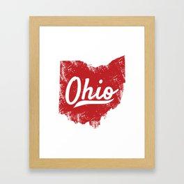 Ohio Gift I Love My Ohio Home Cleveland Cincinnati Akron OH Framed Art Print